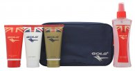 Gola Confezione Regalo 75ml Bagnoschiuma + 75ml Gel per Capelli + 75ml Balsamo Idratante + 150ml Body Spray Idratante + Borsa