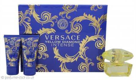 Versace Yellow Diamond Intense Gift Set 50ml EDP + 50ml Body Lotion + 50ml Shower Gel