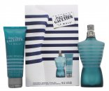 Jean Paul Gaultier Le Male Gift Set 125ml EDT + 75ml All-Over Shower Gel + 10ml EDT Mini