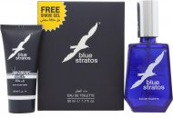 Parfums Bleu Limited Blue Stratos Gift Set 1.7oz (50ml) EDT + 0.8oz (25ml) Shave Gel