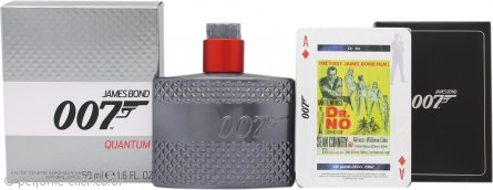 James Bond 007 Quantum Gift Set 50ml EDT + Playing Cards
