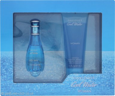 Davidoff Cool Water Woman Gift Set 30ml EDT Spray + 75ml Shower Gel