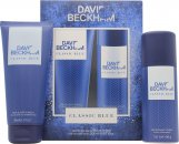 David Beckham Classic Blue Gavesæt 150ml Body Spray + 200ml Shower Gel