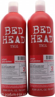 Tigi Duo Verpakking Bed Head Urban Antidotes Resurrection 750ml Shampoo + 750ml Crèmespoeling