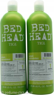 Tigi Duo Pack Bed Head Urban Antidotes Re-Energize 750ml Shampoo + 750ml Conditioner