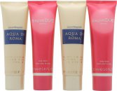 Laura Biagiotti Gift Set 2 x 50ml Aqua di Roma Body Lotion + 2 x 50ml Due Donna Body Lotion