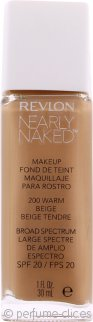 Revlon Nearly Naked Base de Maquillaje SPF20 30ml - Warm Beige