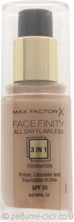 Max Factor Facefinity All Day Flawless 3 in 1 Foundation SPF20 30ml - 50 Natural