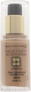 Max Factor Facefinity All Day Flawless 3 in 1 Base SPF20 30ml - 50 Natural