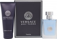 Versace New Homme Gift Set 1.7oz (50ml) EDT + 3.4oz (100ml) Hair & Body Shampoo