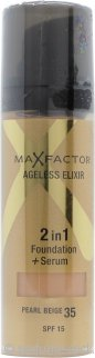 Max Factor Ageless Elixir 2 in 1 Foundation + Serum 30ml - Pearl Beige