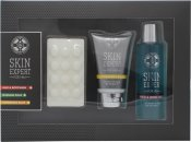 Style & Grace Skin Expert For Him Pamper Pack Gift Set 120ml Aftershave Balm + 120ml Hair & Body Wash + 100g Massage Soap