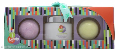 Style & Grace Bubble Boutique Bomb Gift Set 2x 200g Bath Bombs + 250ml Body Lotion