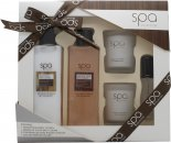 Style & Grace Spa Bathing Experience Gift Set 250ml Bath Creme + 200ml Body Lotion + 15ml EDP + 2 x 65g Candle