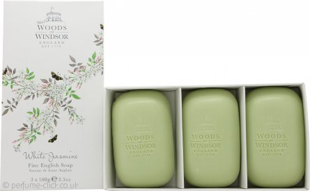 Woods of Windsor White Jasmine Soap 3 x 100g