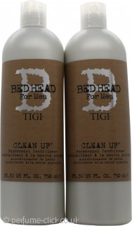 Tigi Duo Pack Bed Head For Men Clean Up 750ml Shampoo + 750ml Conditioner