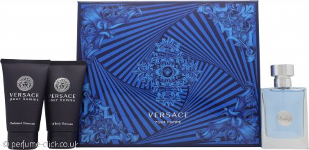 Versace Pour Homme Gift Set 50ml EDT + 50ml Perfumed Shampoo + 50ml Perfumed Shower Gel