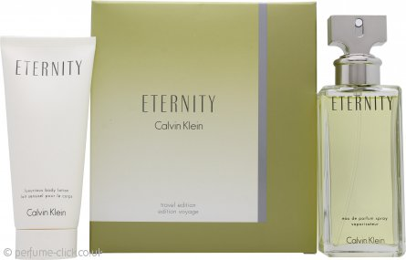 Calvin Klein Eternity Travel Gift Set 100ml EDP + 100ml Body Lotion