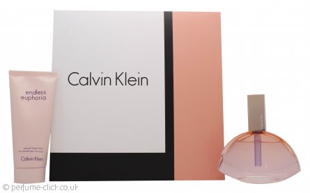 Calvin Klein Endless Euphoria Gift Set 75ml EDP Spray + 100ml Body Lotion
