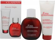 Clarins Eau Dynamisante Gift Set 100ml Eau Dynamisante Spray + 100ml Moisturizing Body Lotion