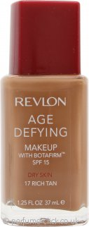 Revlon Age Defying Foundation 37ml Dry Skin - 17 Rich Tan