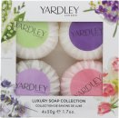Yardley Luxury Soaps Collection Geschenkset 50g Lavender Seife + 50g Lily Of The Valley Seife + 50g Rose Seife + 50g April Violets Seife