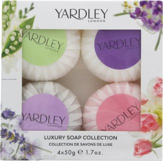 Yardley Luxury Soaps Collection Gift Set 50g Lavender Soap + 50g Lily Of The Valley Soap + 50g Rose Soap + 50g April Violets Soap