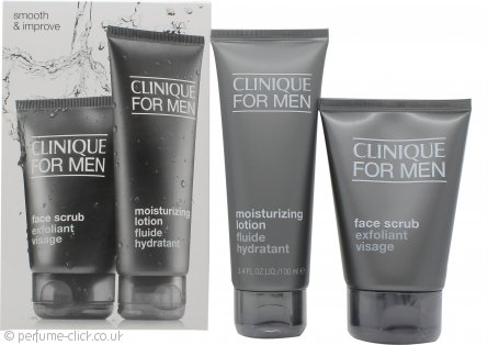 Clinique for Men Smooth and Improve Gift Set 100ml Face Scrub + 100ml Moisturizing Lotion