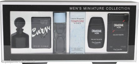 Miniature Various Gift Set 5ml Guy Laroche Drakkar Noir EDT + 5ml Laura Biagiotti Tempore Uomo EDT + 5.3ml Liz Claiborne Curve for Him EDT