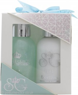 Style & Grace Puro Mini Pamper Treats Gift Set 100ml Body Wash + 100ml Body Lotion + Rose Shower Flower