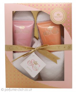 Style & Grace Utopia Indulgent Gift Set 150ml Body Lotion + 150ml Body Wash + Slippers