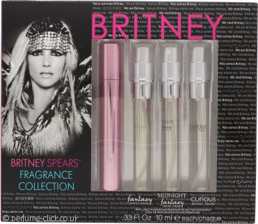 Britney Spears Fragrance Collection Gift Set 10ml EDP Fantasy + 10ml EDP Midnight Fantasy + 10ml EDP Curious