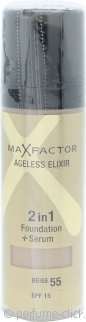 Max Factor Ageless Elixir 2 in 1 Foundation + Serum 30ml Beige 55