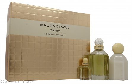 Cristobal Balenciaga Paris Gift Set 75ml EDP + 7.5ml EDP + 100ml Body Lotion