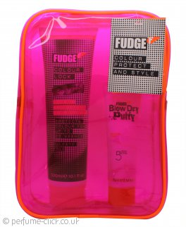 Fudge Colour Protect & Style Gift Set 300ml Colour Lock Shampoo + 75ml Blow Dry Putty