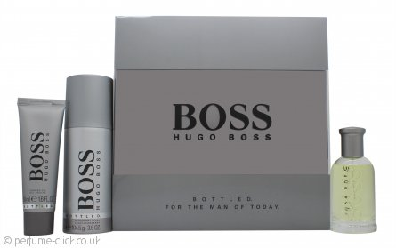 Hugo Boss Bottled Gift Set 50ml EDT + 50ml Shower Gel + 150ml Deodorant Spray