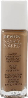 Revlon Nearly Naked Foundation SPF20 30ml - Sun Beige