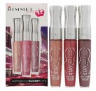Rimmel Stay Glossy Lipgloss Trio Gift Set Non Stop Glamour 120 + Stay My Rose 160 + My Eternity 260