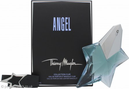 Thierry Mugler Angel Gift Set 50ml EDP Refillable + Leather Bracelet