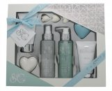 Style & Grace Puro Pure Bliss Bath & Body Geschenkset 120ml Duschgel + 100ml Body Lotion + 120ml Körperspray + 50g Seife + 100ml Körperpeeling + 3x5g Badeperlen