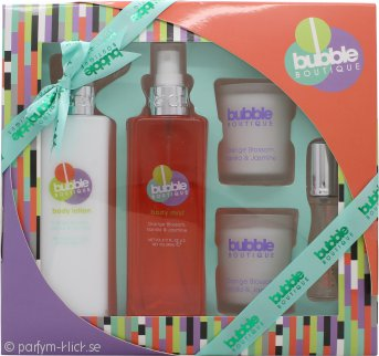 Style & Grace Bubble Boutique Bathing Experience Presentset 250ml Body Mist + 250ml Body Lotion + 2 x 65g Ljus + 15ml EDP Roller