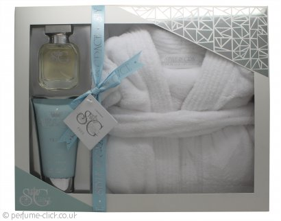 Style & Grace Puro Ultimate Comfort Robe Gift Set 150ml Body Lotion + 50ml EDP + One Size Luxury Bath Robe