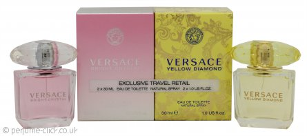 Versace Gift Set 30ml Yellow Diamond EDT + 30ml Bright Crystal EDT