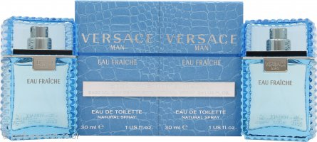 Versace Man Eau Fraiche Gift Set 2 x 30ml EDT Spray