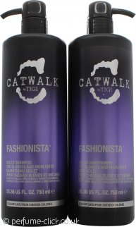 Tigi Catwalk Fashionista Violet DUO 750ml Shampoo + 750ml Conditioner