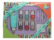 Style & Grace Bubble Boutique Perfect Mani-Care Gift Set 100ml Hand Cream + 5x8ml Nail Polishes + Large Nail File + Nail Transfers + Cuticle Stick