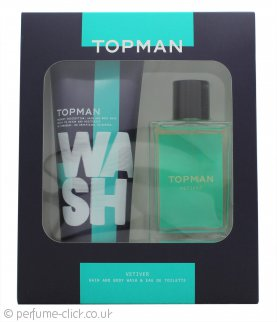 Topman Vetiver Gift Set 100ml EDT + Hair and Body Wash