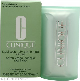 Clinique Cleansing Range Facial Soap with Dish 100g Oily Skin
