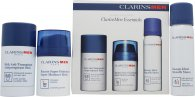 Clarins Mens Essentials Gift Set 50ml Moisturising Balm + 50ml Smooth Shave Gel + 75g Deodorant Stick
