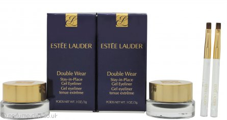 Estée Lauder Double Wear Stay-in-Place Gel Eyeliner Duo Set 2 x Black Pots